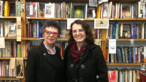 Marion May Campbell and Tracy Ryan at the Collected Works launch.