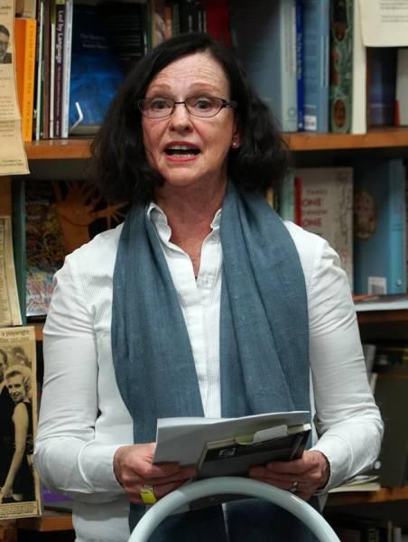 Jennifer launching Marion's book